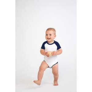 Essential Short Sleeved Baseball Bodysuit