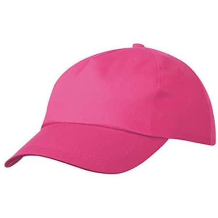 5 Panel Promo Cap in Pink von myrtle beach (Artnum: MB001