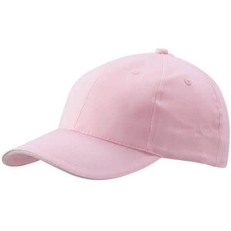 6-Panel Sandwich Cap in Light Pink|White von myrtle beach (Artnum: MB024
