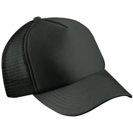 5-Panel Polyester Mesh Cap in Black von myrtle beach (Artnum: MB070