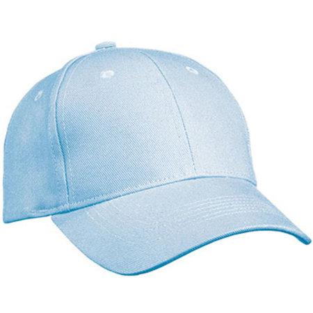 6 Panel Cap Heavy Cotton in Light Blue von myrtle beach (Artnum: MB091