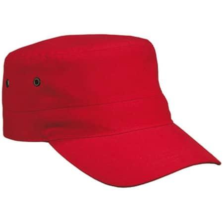 Military Cap in Red von myrtle beach (Artnum: MB095