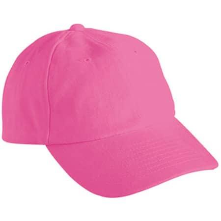 6-Panel Raver Cap in Pink von myrtle beach (Artnum: MB6111