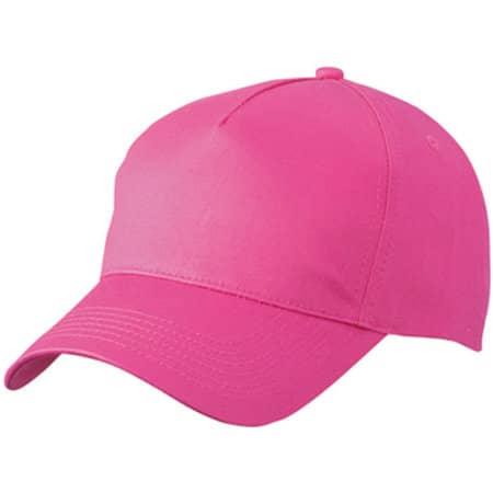 5-Panel Cap in Pink von myrtle beach (Artnum: MB6117