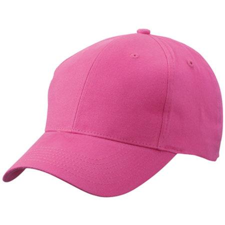 Brushed 6-Panel Cap in Pink von myrtle beach (Artnum: MB6118