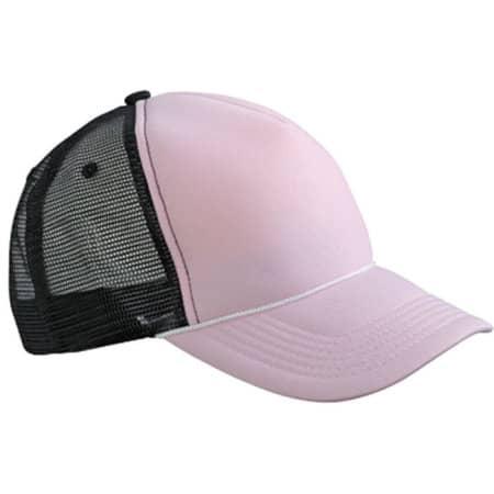 5 Panel Retro Mesh Cap in Baby Pink|Black von myrtle beach (Artnum: MB6550