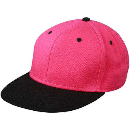 6 Panel Pro Cap in Pink|Black von myrtle beach (Artnum: MB6581