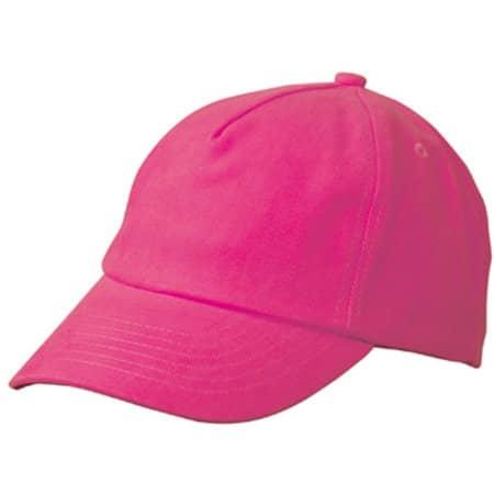 5-Panel Kids` Cap in Pink von myrtle beach (Artnum: MB7010