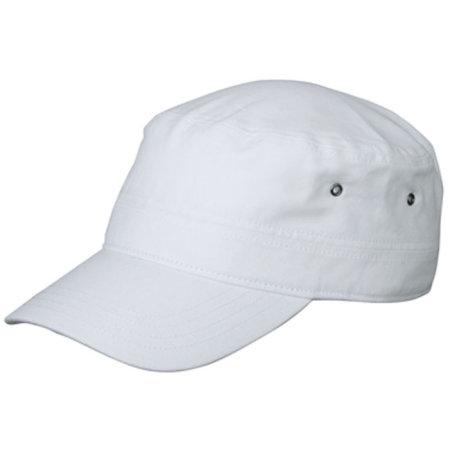Military Cap for Kids in White von myrtle beach (Artnum: MB7018