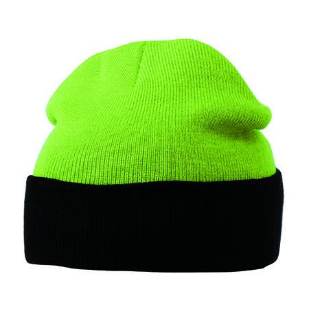 Knitted Cap in Lime Green|Black von myrtle beach (Artnum: MB7550