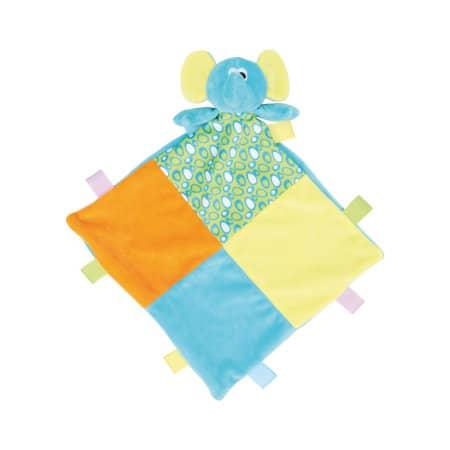 Baby Multi Coloured Comforter with Rattle von Mumbles (Artnum: MM701