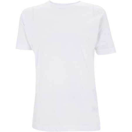 Unisex Classic Jersey T-Shirt in White von Continental Clothing (Artnum: N03