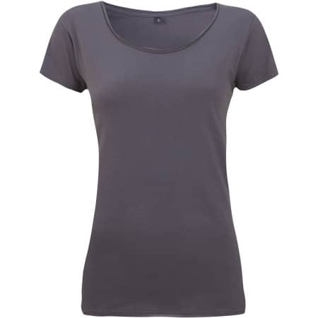 Women's Raw Edge Jersey T-Shirt von Continental Clothing (Artnum: N14
