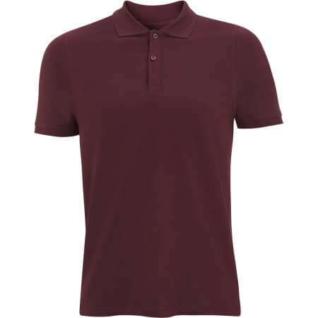 Mens Jersey Polo in Claret Red von Continental Clothing (Artnum: N34