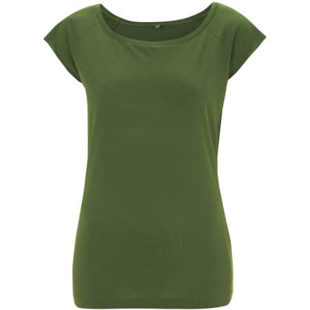Women`s Bamboo Viscose Raglan T-Shirt in Leaf Green von Continental Clothing (Artnum: N43