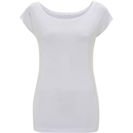 Women`s Bamboo Viscose Raglan T-Shirt in White von Continental Clothing (Artnum: N43