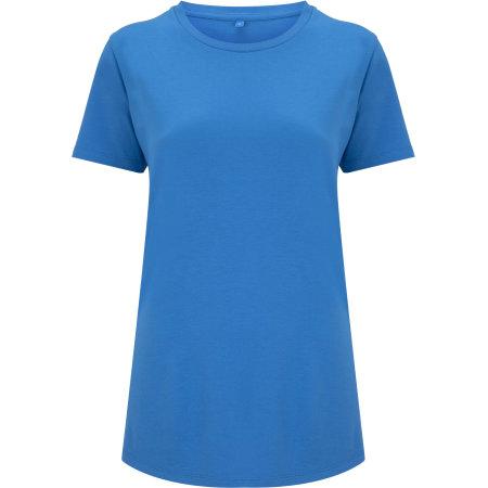 Women`s Ecovero T-Shirt in Summer Blue von Continental Clothing (Artnum: N49