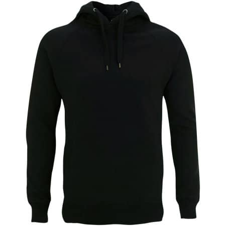 Men's / Unisex Pullover Hoody With Side Pockets in Black von Continental Clothing (Artnum: N50P