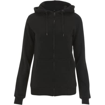 Women`s High Neck Zip Up Hoody von Continental Clothing (Artnum: N54Z