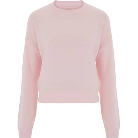 Womens Crop Sweatshirt in Light Pink von Continental Clothing (Artnum: N57