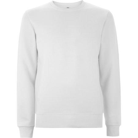 Unisex Standard Fitted Sweatshirt in White von Continental Clothing (Artnum: N62