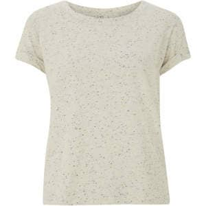Women's speckled rolled-up T-Shirt