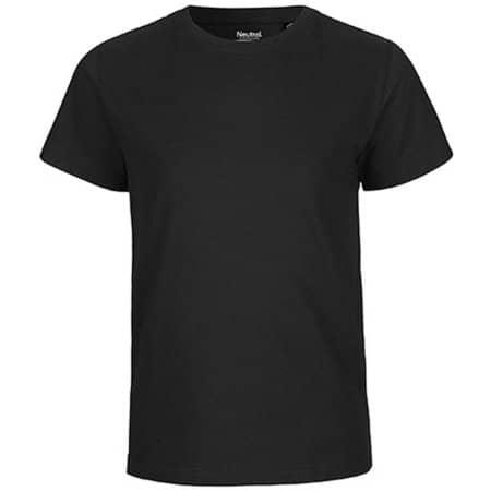 Kids` Short Sleeve T-Shirt in Black von Neutral (Artnum: NE30001
