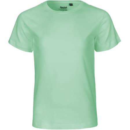 Kids` Short Sleeve T-Shirt in Dusty Mint von Neutral (Artnum: NE30001