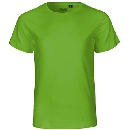 Kids` Short Sleeve T-Shirt in Lime von Neutral (Artnum: NE30001