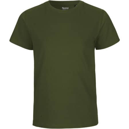 Kids` Short Sleeve T-Shirt in Military von Neutral (Artnum: NE30001