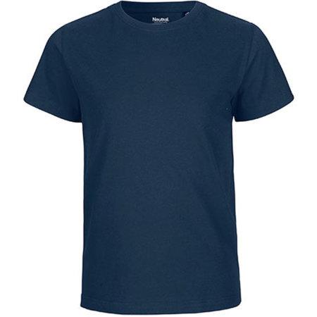 Kids` Short Sleeve T-Shirt in Navy von Neutral (Artnum: NE30001