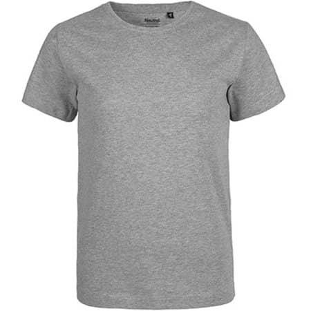 Kids` Short Sleeve T-Shirt in Sports Grey von Neutral (Artnum: NE30001