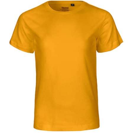 Kids` Short Sleeve T-Shirt in Yellow von Neutral (Artnum: NE30001