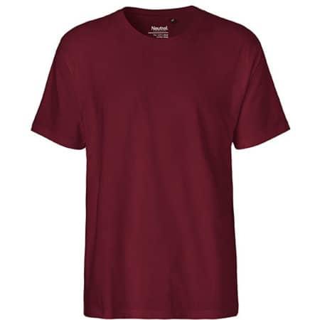 Men`s Classic T-Shirt in Bordeaux von Neutral (Artnum: NE60001