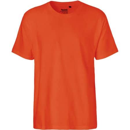 Men`s Classic T-Shirt in Orange von Neutral (Artnum: NE60001