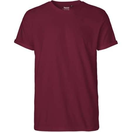 Men`s Roll Up Sleeve T-Shirt in Bordeaux von Neutral (Artnum: NE60012