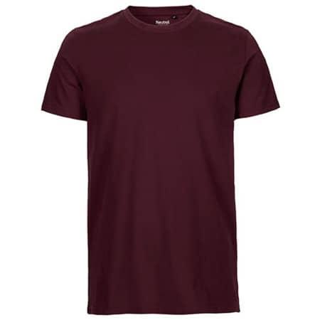 Men`s Fit T-Shirt in Bordeaux von Neutral (Artnum: NE61001