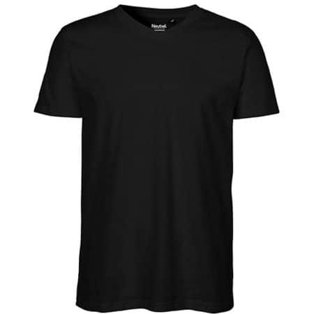 Men`s V-neck T-Shirt in Black von Neutral (Artnum: NE61005