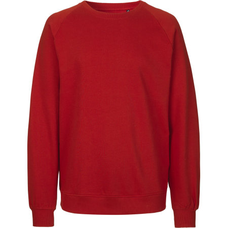 Unisex Sweatshirt Organic in Red von Neutral (Artnum: NE63001