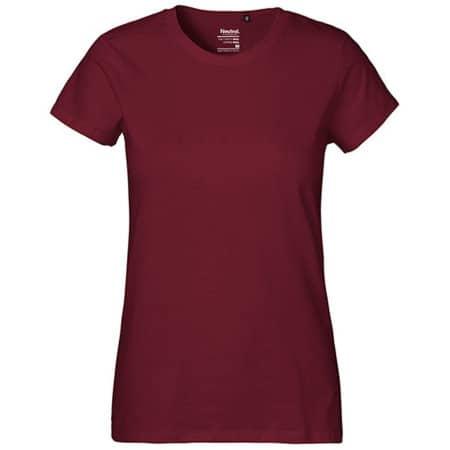 Ladies` Classic T-Shirt in Bordeaux von Neutral (Artnum: NE80001