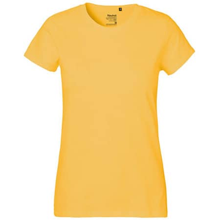 Ladies` Classic T-Shirt in Yellow von Neutral (Artnum: NE80001