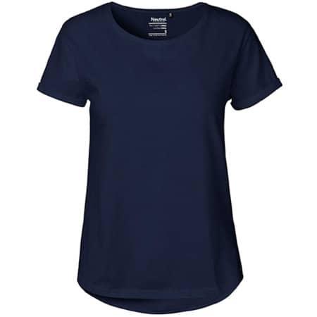 Ladies` Roll Up Sleeve T-Shirt in Navy von Neutral (Artnum: NE80012