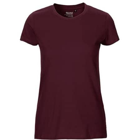 Ladies` Fit T-Shirt in Bordeaux von Neutral (Artnum: NE81001
