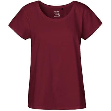 Ladies` Loose Fit T-Shirt in Bordeaux von Neutral (Artnum: NE81003