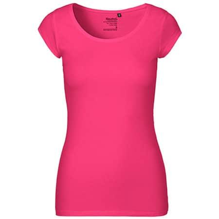 Ladies` Roundneck T-Shirt in Pink von Neutral (Artnum: NE81010