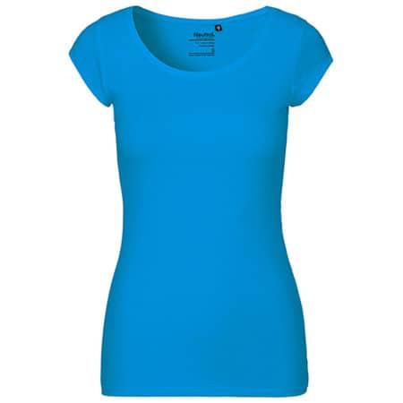 Ladies` Roundneck T-Shirt in Sapphire von Neutral (Artnum: NE81010