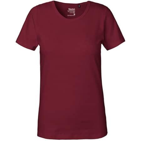 Ladies` Interlock T-Shirt in Bordeaux von Neutral (Artnum: NE81029
