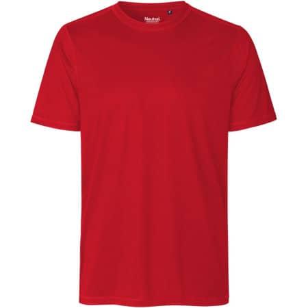 Unisex Performance T-Shirt in Red von Neutral (Artnum: NER61001
