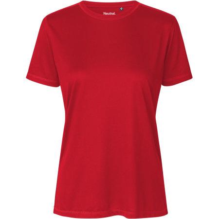 Ladies Performance T-Shirt in Red von Neutral (Artnum: NER81001