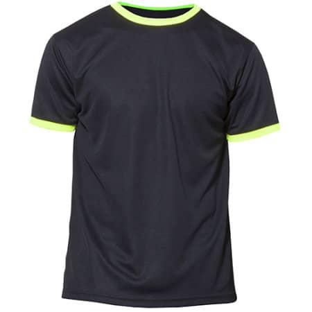 Action - Short Sleeve Sport T-Shirt in Black|Yellow Fluor von Nath (Artnum: NH160